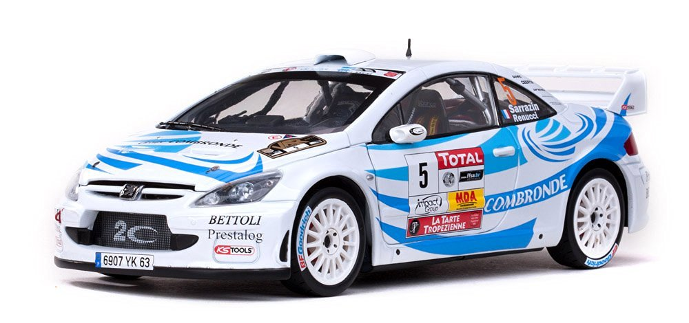 Peugeot 307 WRC #5 S.Sarrazin/J.Renucci 2nd Rallye du Var 2011 1/18 Limited Edition 1 of 559 Produced Worldwide by Sunstar 4699