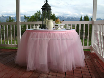 NEW Tutu Table Skirt Pink Tulle Tableskirt For Wedding Birthday