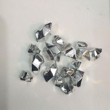 Cheap 1114mm Metallic Silver Diamonds Ice Rocks Chips Stones