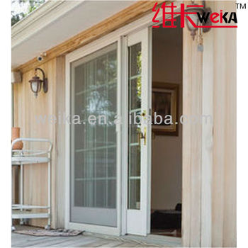 double glazed americanized PVC cheap glass sliding door