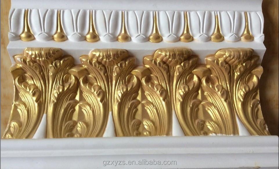 جميلة لون الذهب كرانيش جبس القوالب معرف المنتج1860911315 Arabic