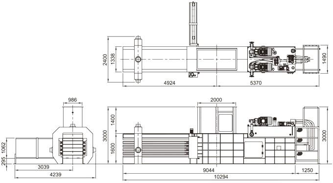 low price horizontal waste paper press machine  hydraulic scrap baling machine