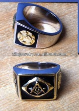 (30205) Gold plated high quality Brass signet masonic rings wholesale