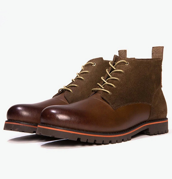 fashion stylish man boot high quality military leather boots