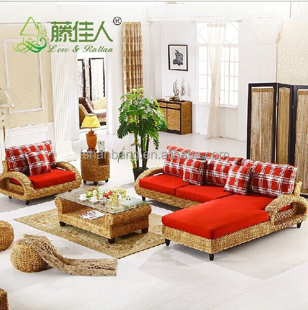 Interior moderno artesan as de mimbre tejidas a mano - Sofas de mimbre ...
