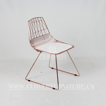 Lucy Chair Modern Wire Chair Copper Color