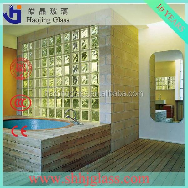 Suministrar ladrillos de vidrio transparente y de color - Precio del vidrio ...