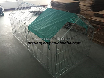 new outdoor chicken enclosure with sun-proof net
