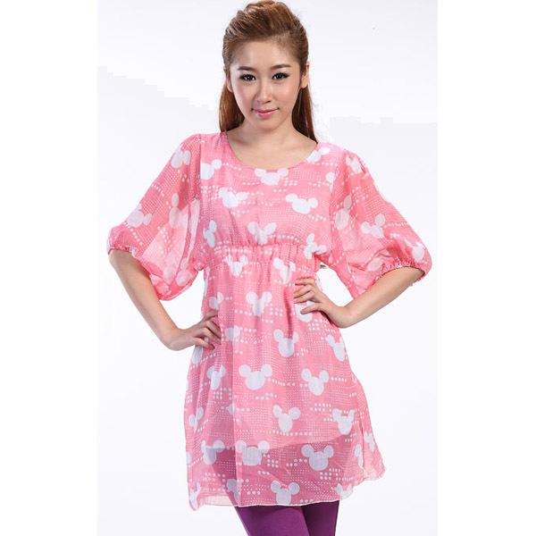 5ab3be04ae1c3 Get Quotations · Hot New Summer Maternity Clothing Fashion Printing Chiffon  Dress for Pregnant Women's Half Sleeve Gravida Shirt