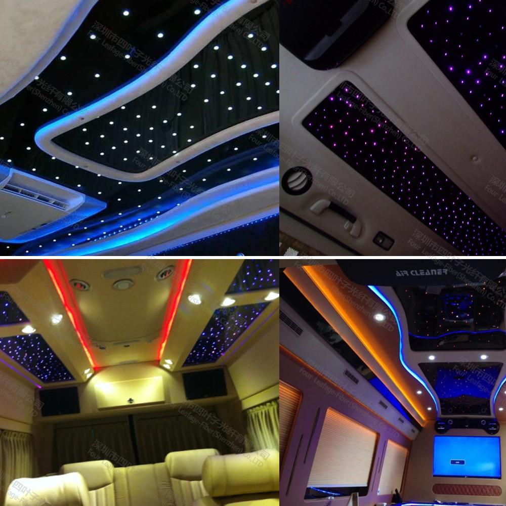 Decoracion de interiores del coche techo de fibra ptica - Decoracion interior coche ...