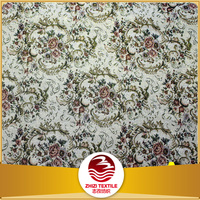 flower design China factory low price north America fashion sofas upholstery fabric