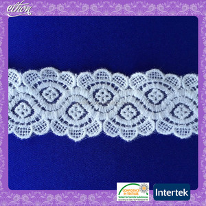 Nylon cotton indian embroidered border lace trim wholesale for lingerie
