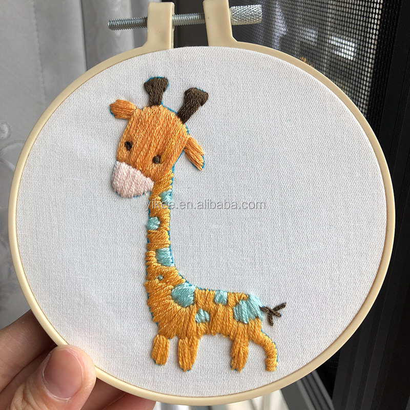 Cross Stitch Bambu Lion Multi Pola Cina Hoop Bordir