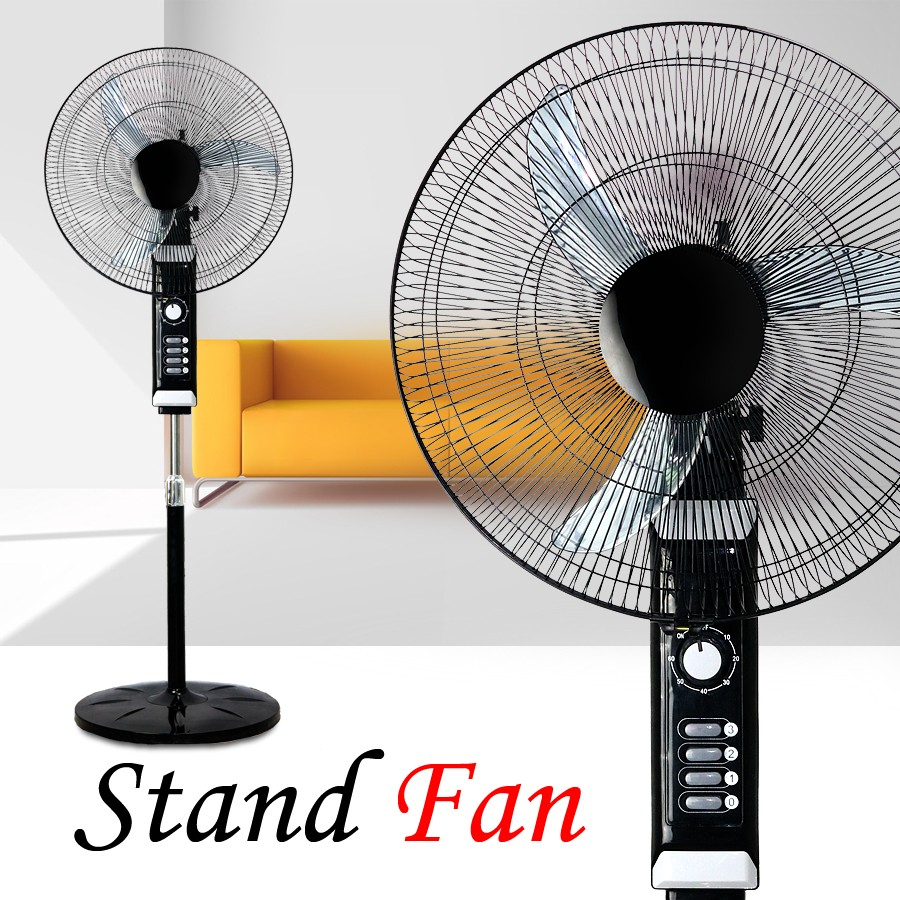 Electric Fan On A Stand : Inch v rechargeable electric stand fan with copper