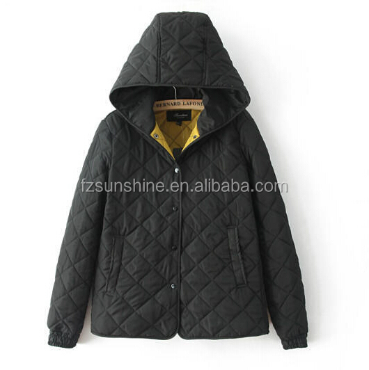 2016 Hooded Quilted Winter Coats for women