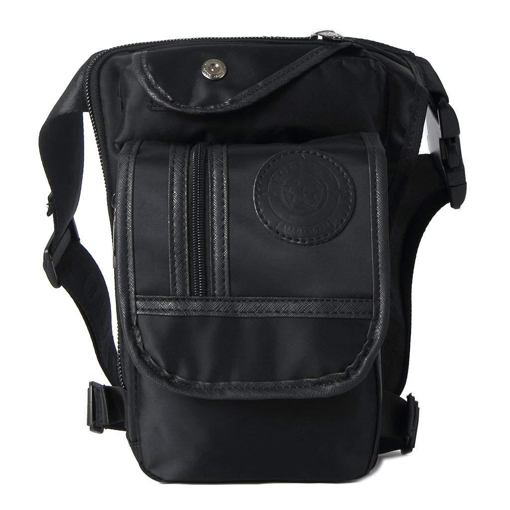 Xincu Canvas Waist Bag - Hip Bag Fanny Pack Waist Pack Thigh Drop Leg Bag for Tactical Motorcycle Riding, Men