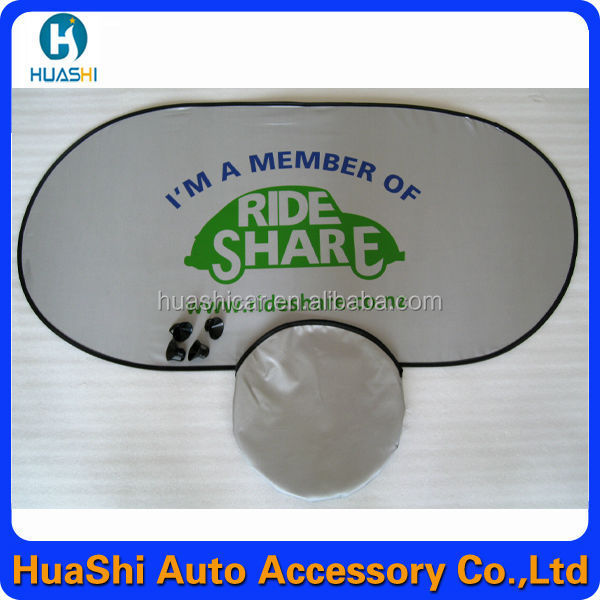 silver nylon advertising rear car windshield sunshades solar control window film