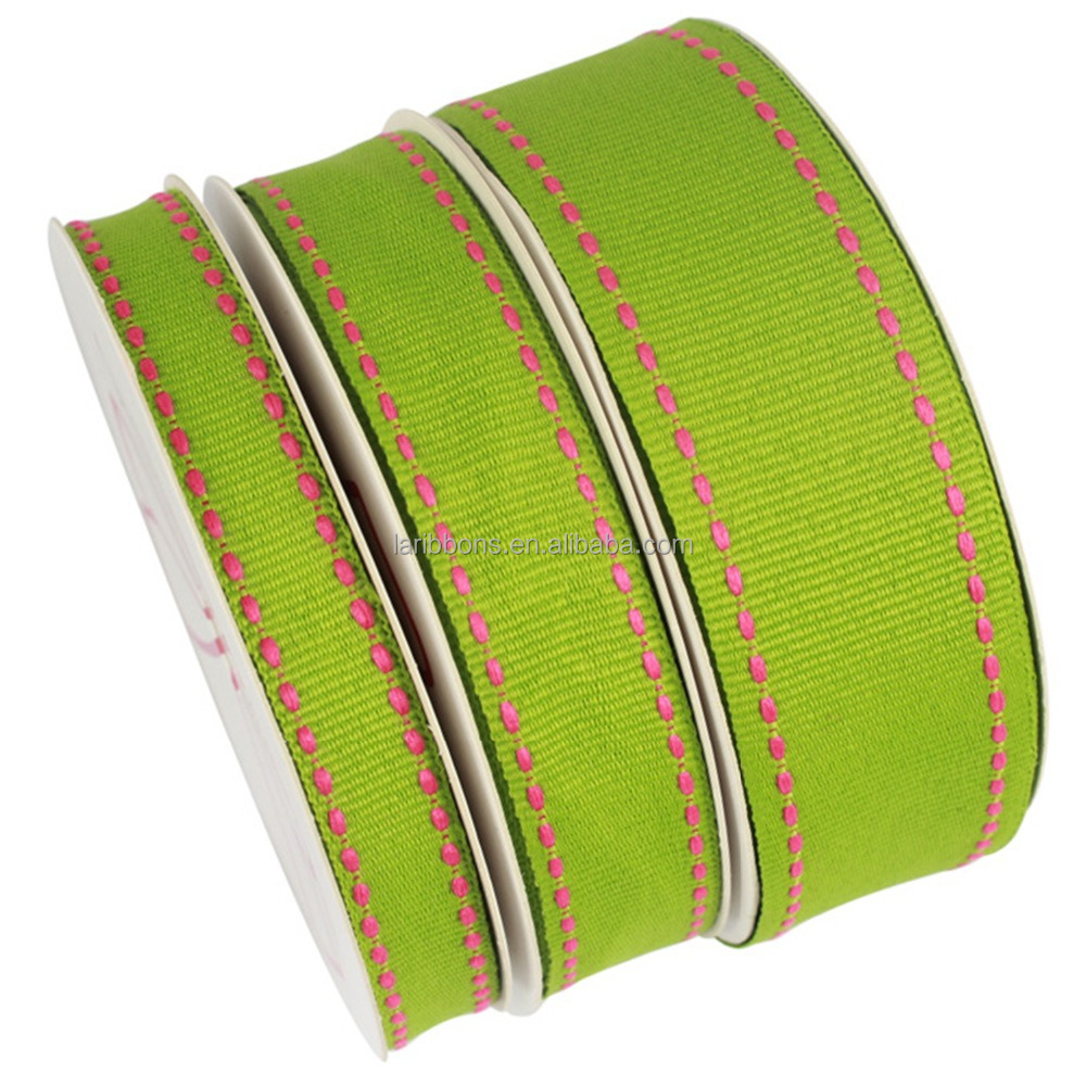 Custom grosgrain ribbon,christmas tree wired ribbons