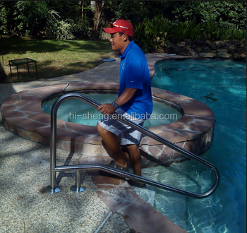 Removable 304 316 stainless steel swimming pool handrail - Removable swimming pool handrails ...