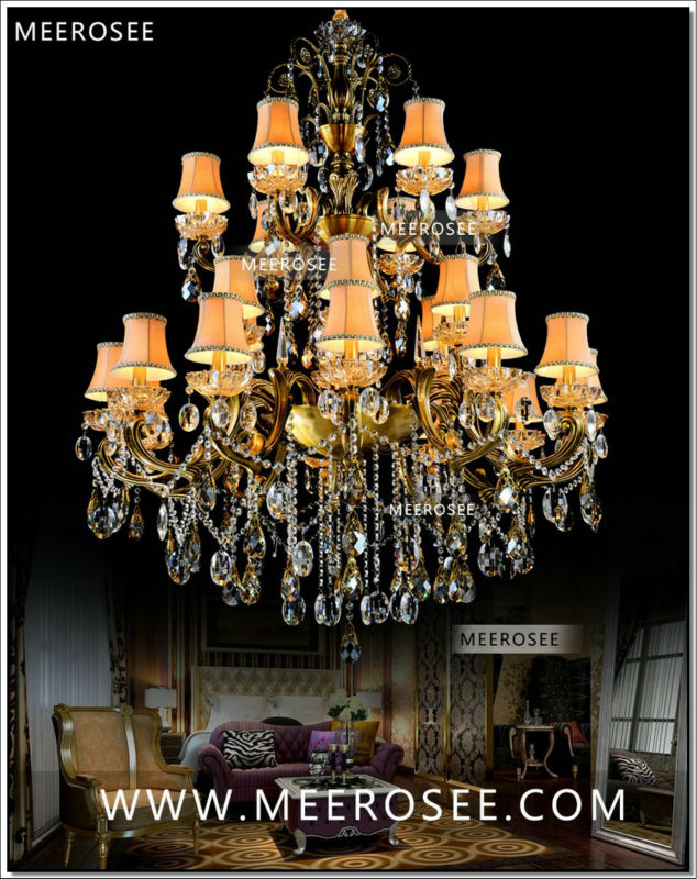 Incredible Fashion Large Crystal Chandelier Lighting Fixture Antique Brass Color Large Hanging Light Fitting Bronze Color For Foyer Hallway Home Remodeling Inspirations Basidirectenergyitoicom