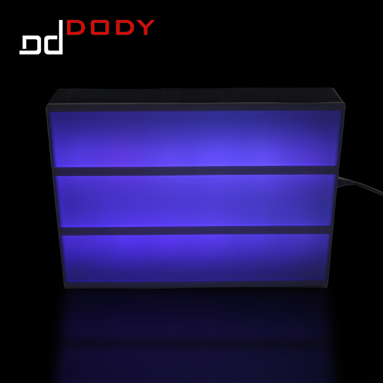 USB charge color changing A4 paper size led light box sign for advertising