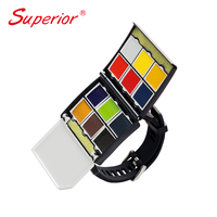 Superior new product watch style traveling solid water color set can replaced cake when finished watercolor set