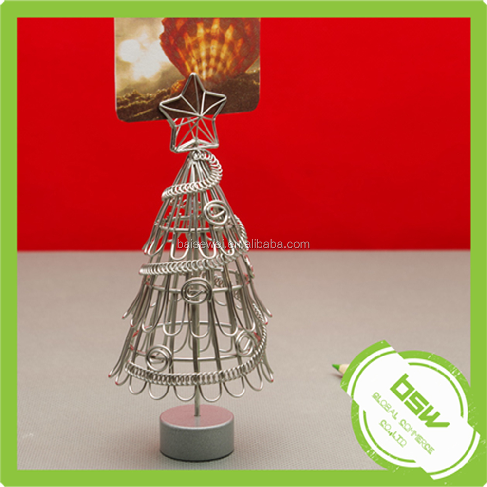 Customized Christmas Tree Metal Memo Clip for photoes&cards&paper