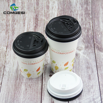 Biodegradable 8 12 16 20 single wall disposable hot drink PLA lining paper cups