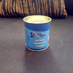 26 hours memorial candle round tin box candle scented candles