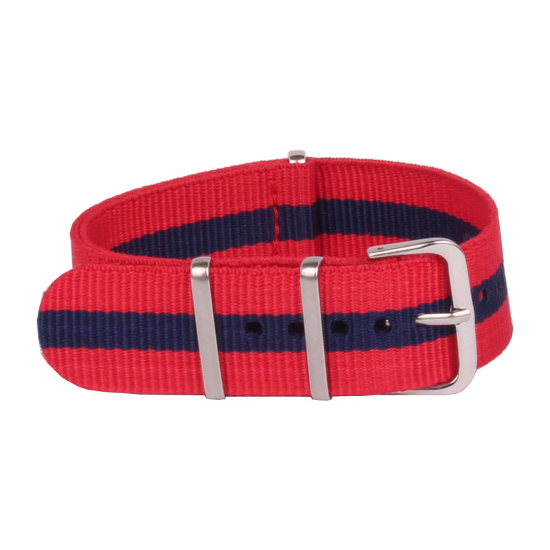 18mm 20mm 22mm Nato Nylon Navy Red Yellow Color Watch Band Strap Nato Colorful Fashion Nato Watch Band 3 Size Available