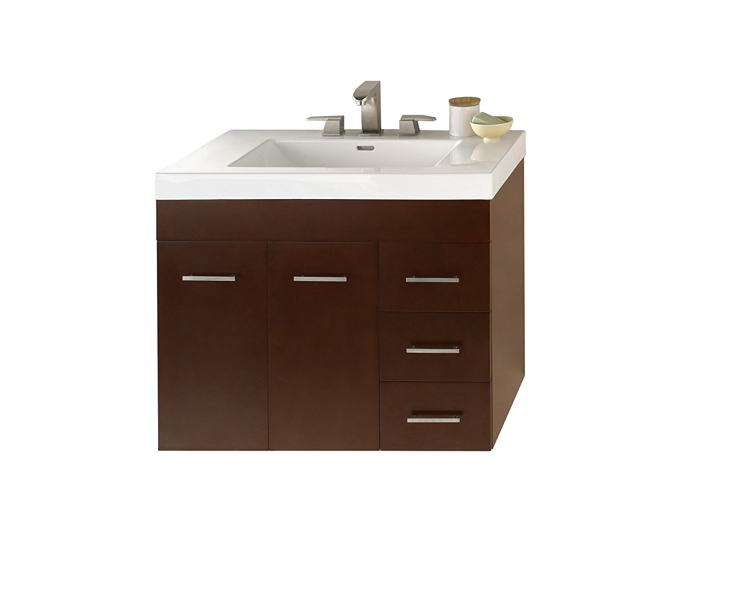 Get Quotations Ronbow Bella 33 Inch Bathroom Vanity Set In Dark Cherry Single With Wall