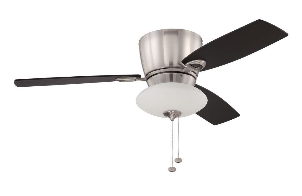 Get Ations Litex Ch48bnk3c Caden 48 Brushed Nickel Flushmount Ceiling Fan With Three Reversible Black Mahogany
