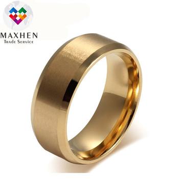 Aliexpress Ebay Hot Ing Er Price 18k Gold Simple Stainless Steel Rings For Man Matt Effect