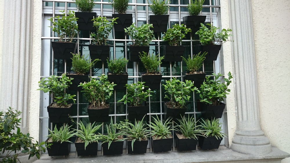 Vertical Gardening Decorative Wall Hanging Planters And Flower Pots   Buy  Vertical Garden Wall Pocket Planter,Decorative Garden Stone Flower Pot,Cheap  ...