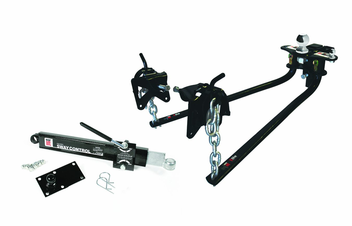 """Camco Eaz-Lift Elite Weight Distributing Hitch Kit, Includes Distribution Hitch, Sway Control and 2-5/16"""" Hitch Ball - 1,000 lbs Tongue Weight Capacity (48058)"""