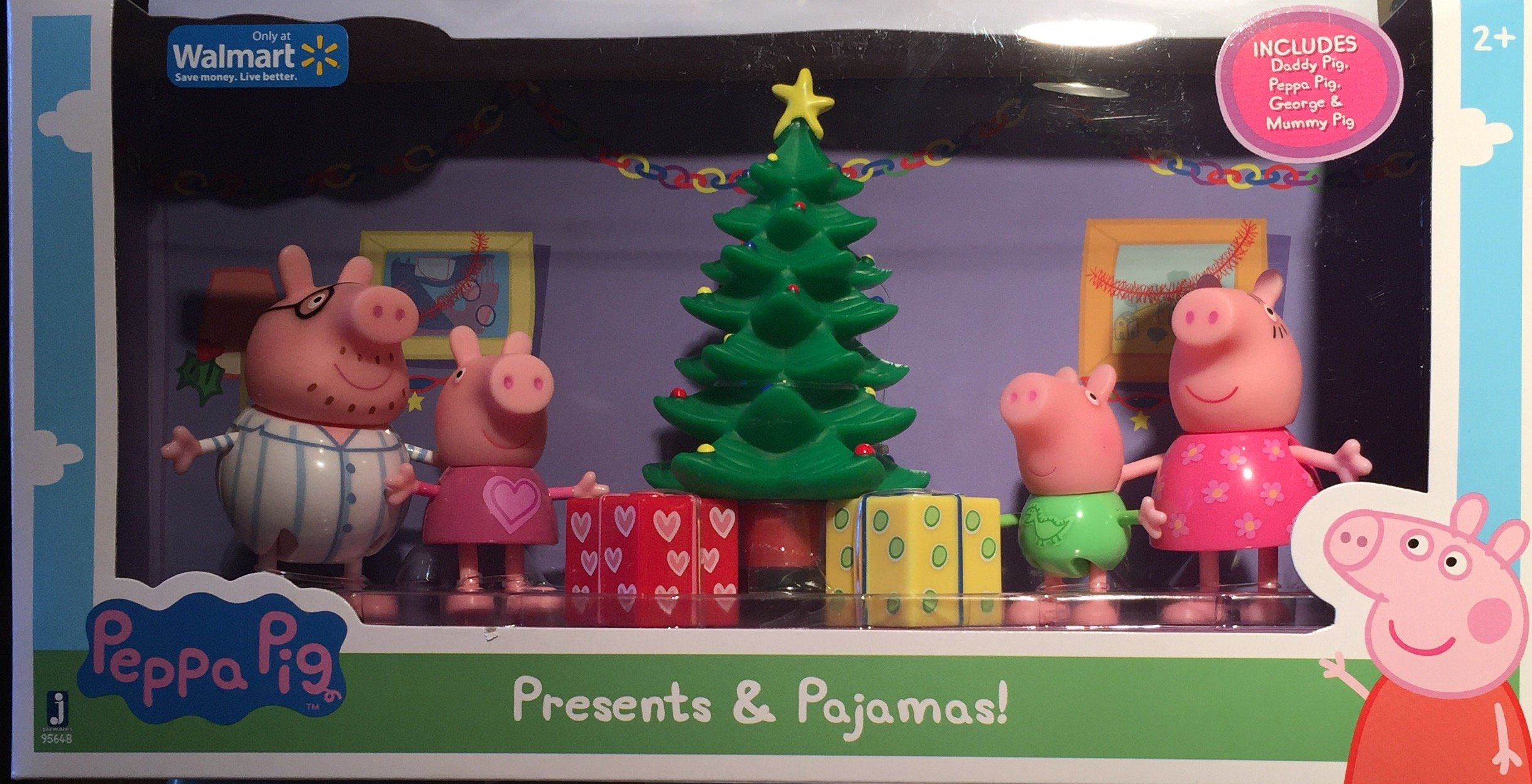 peppa pig christmas presents and pajamas exclusive set with family