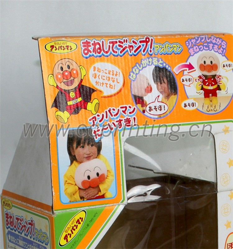 Window clear corrugated dolls paper box gift box packaging box