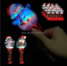 2016 Hot Selling Kids Favor Christmas Snow LED Flashing Spinner Wand for Party