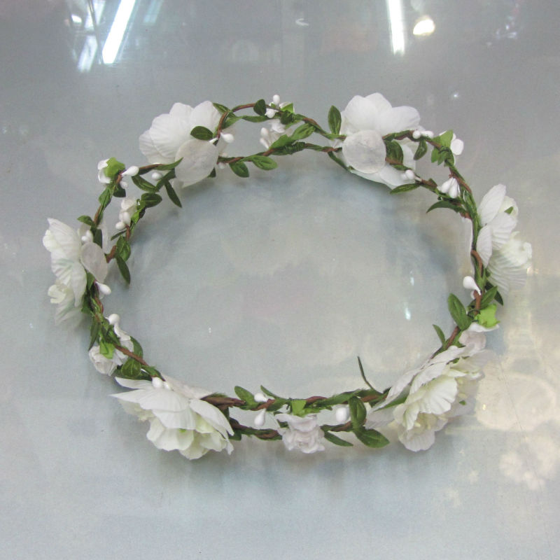 wedding bridal daisy crown headband artificial flower crown