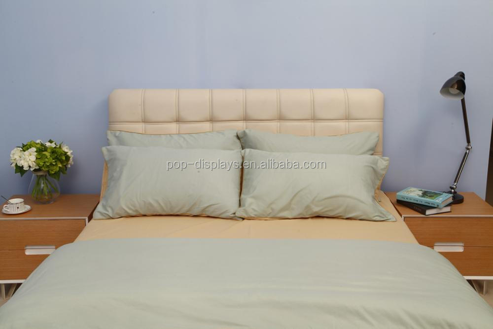 Steady Wood Bed Frame With Metal Supporting Legs With Comfortable - Comfortable-upholstered-headboard