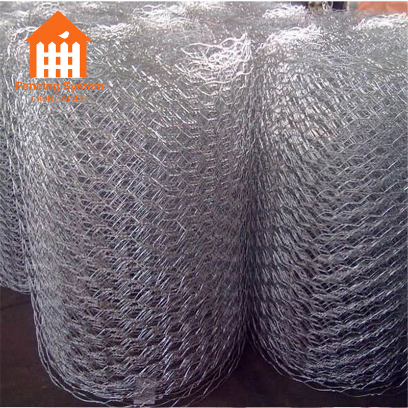 Покрыто ПВХ anping гексагональной оцинкованная мелкая проволочная сетка сетки
