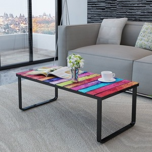 Hotsale cheap modern metal glass coffee table design for Living Room Furniture coffee table