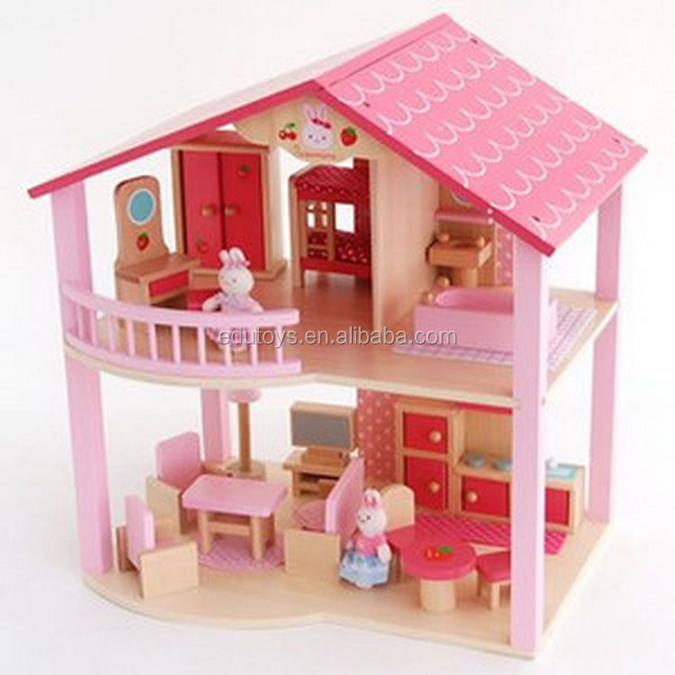 2017 Toy Wooden Pink Villa Japanese Girl Toypopular Mother Garden Wooden Toys Hot