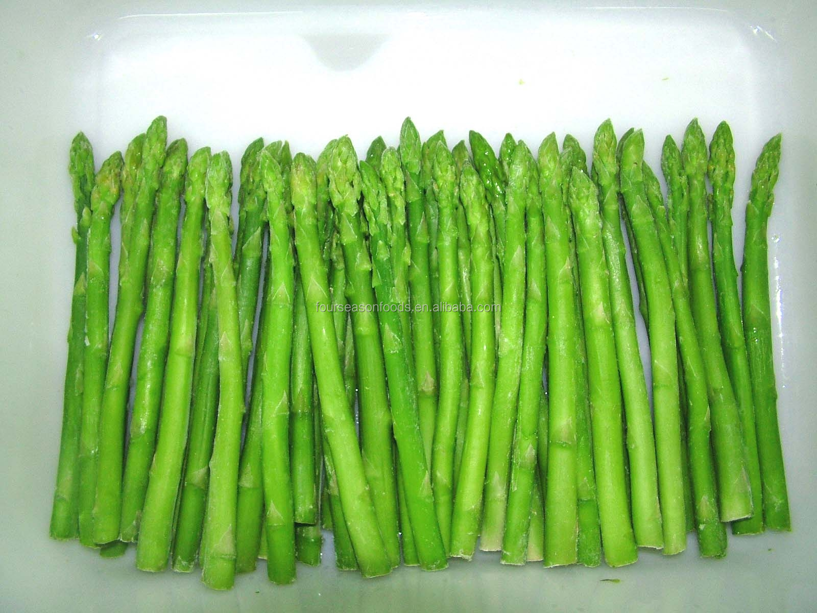 2016 Iqf frozen green asparagus spear whole / wuts / tips