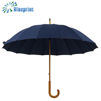 classic design products men carved wood handle stick umbrella