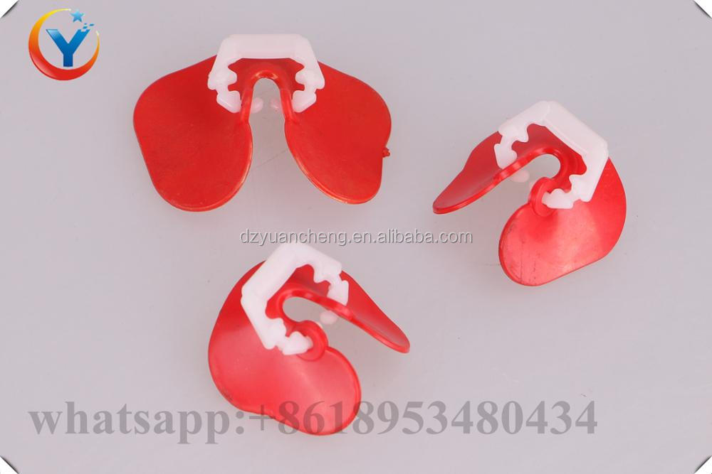 wholesale Soft red plastic chicken eye glasses Anti-pecking goggles Chicken Glasses Chicken necessary