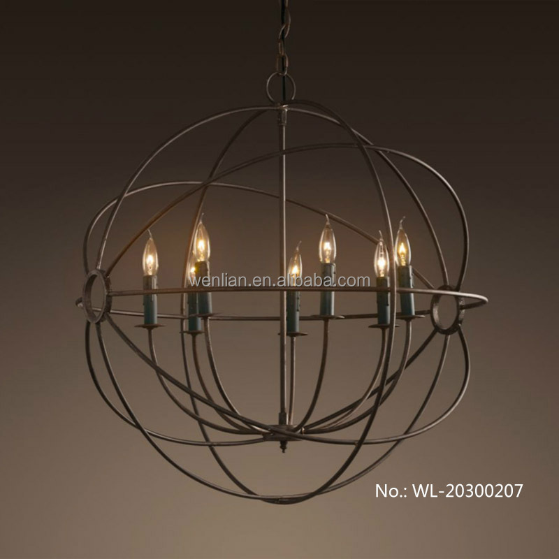 Perfectshow 8-lights Chandelier Retro Iron Rustic Ceiling Pendant ...