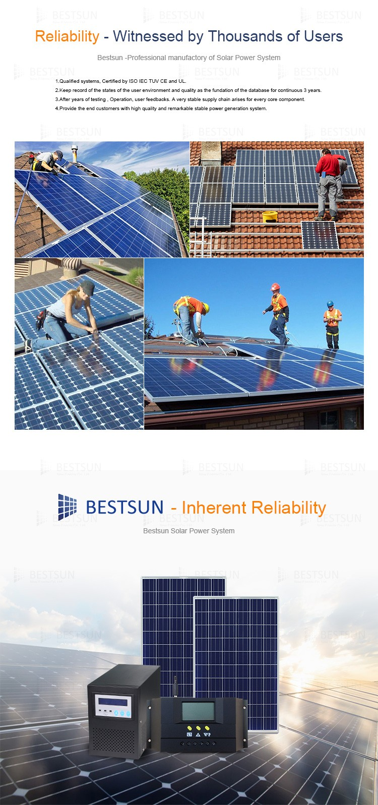 Bestsun Solar Ups Products Working Model Green Energy 1kw