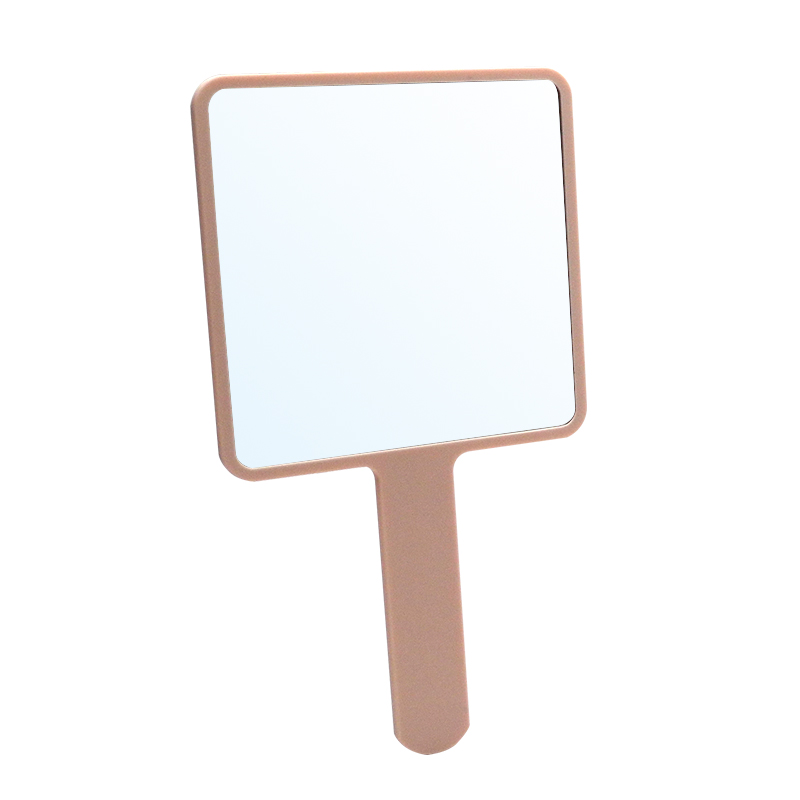Top Quality Square Hand Held Small Plastic handle Cosmetic Mirror