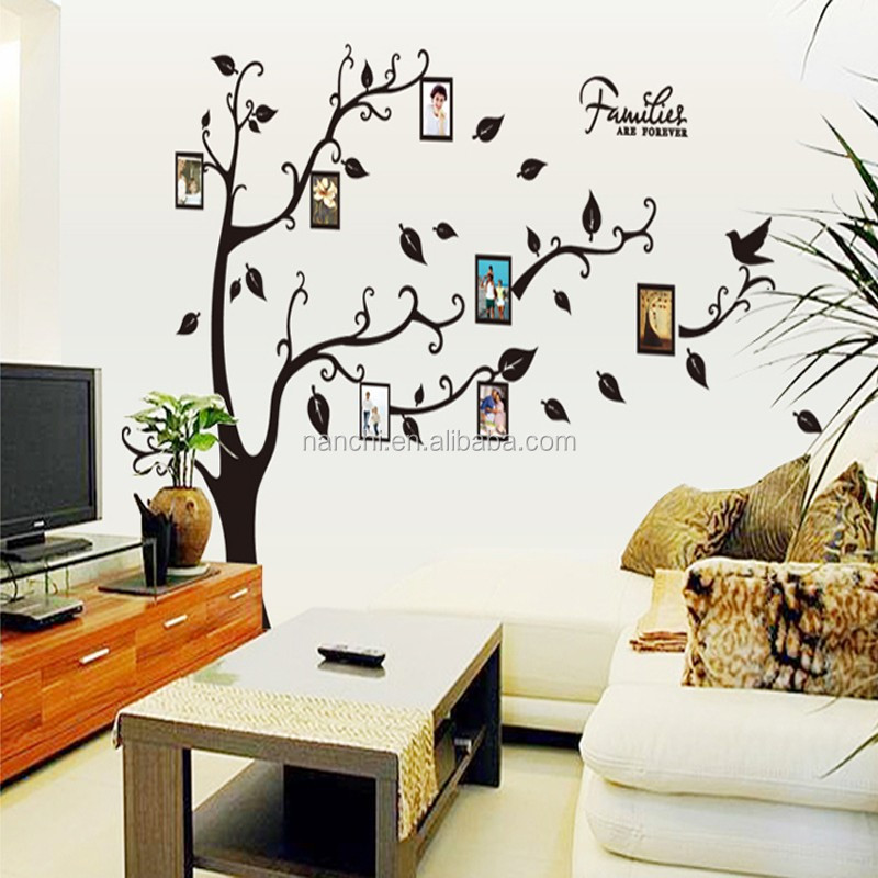 AY9063A PVC Photo Frame Trees Wall Stickers Home Decor Family Tree Wall  Decal Living Room Bedroom Part 79